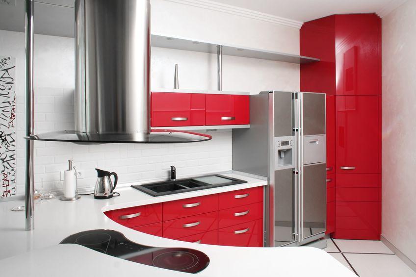 bright colour kitchen